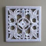 Elegant Wood Carved Decorative Wall Art Plaque