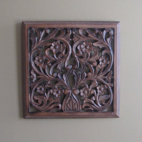 Carved  Wood Wall Decorative Wall Art Plaque. Fae.