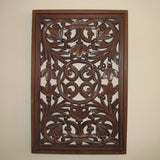 Carved Wood Wall Art Plaque ,Decorative Icy.