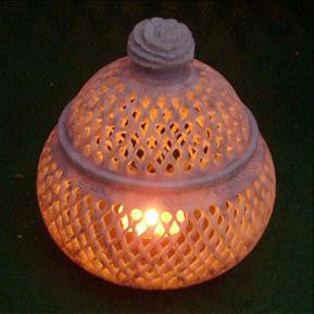Soapstone candle T light Holder,India art,India gift ,