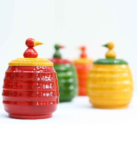 Storage jars set,Kitchen shelf decor,