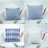 Blue and white Cushion/Pillow Covers soft cotton.16 x 16 inches.Block Print.