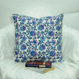 Lilac blue Cotton Cushion/Pillow Covers.16 x 16 inches.Block Print.