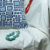 Blue and white Cushion/Pillow Covers cotton.16 x 16 inches.