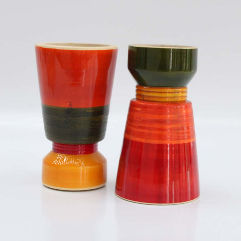 Tealight Candle Holder /Candle Holder Wood Multi color Dual Holder set of 2.