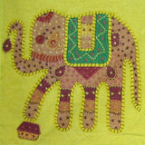 Elephant motif Cushion Cover Embroidered,16 x 16 inches.Elephant