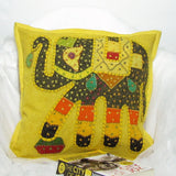 Cotton Cushion Cover Emdbroidered,16 x 16 inches.Elephant