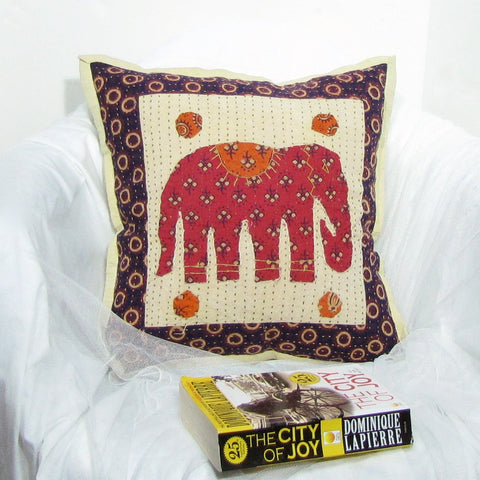 Cotton Cushion Cover Embroidered ,17 x 17 inches.