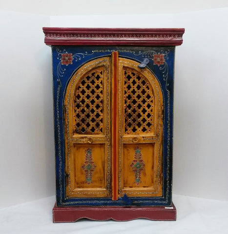 Painted cabinets,small cupboards,Indian home decor,small Almirah.Multicolor