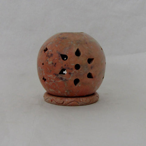 Soapstone Tea Light Candle Holder,incense cone holder.India art,India gift