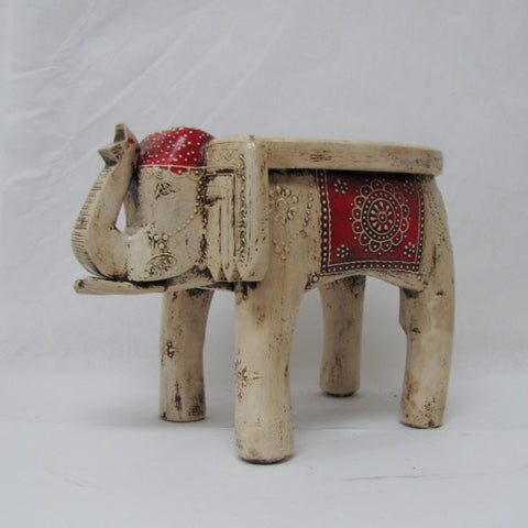 Elephant Stool Low Pot Holder Plant Stand India Art Indian Home Decor Quest End Decor