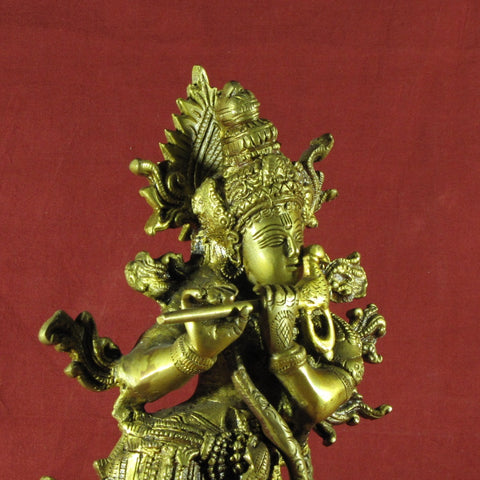Krishna Brass Statue,Hindu God,Idol.