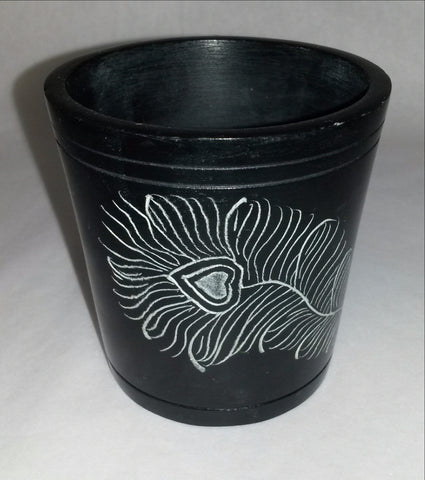 Soapstone Carved Tealight Holder,Incense cone Holder.