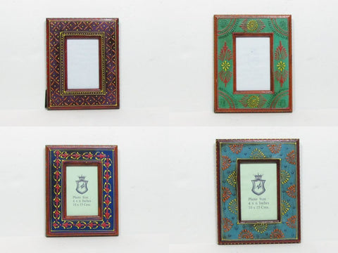Photo Frame,Picture Frame,Hand painted,India gift,Indian Art,6x4 inch photograph.