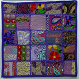 Cushion/Pillow Cover purple Patchwork .Indian Embroidered cushion covers,16 x 16 inches.