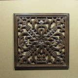 Wood carved Wall Plaque,wood wall hanging.19 x 19 inches ,Ada