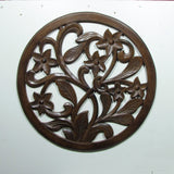 Wood carved wall decor round,24 inch dia,Wall Art Plaque ,Decorative. ALA