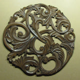 Carved Wood Wall Art Plaque ,Decorative Bec