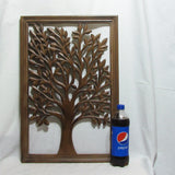 Carved Elegant Wood Decorative Wall Art Plaque.Iva.