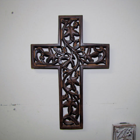 Cross carved wall,,elegant,decorative.Joy.
