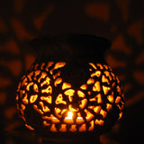 Carved Soapstone Tea Light Candle Holder.India,Indian Art.