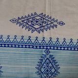 Bedding blue white block print flat sheet 220 x 270 cms with two pillow covers.