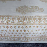 Bed linen mustard white soft cotton,flat sheet .