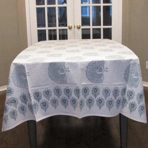 Block print Table linen set,Table cloth,runner,mats,napkins.
