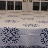 Table linen set block printed ,Table cloth,runner,mats,napkins.