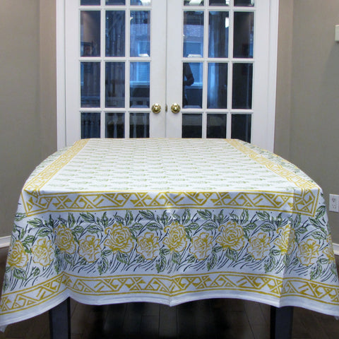 Cotton Block printed Table linen set,Table cloth,runner,mats,napkins.