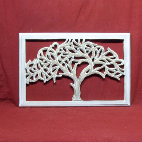 Carved Wood Wall Art Plaque ,Decorative. TREE