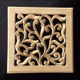 Carved Wood Wall Art Plaque ,Decorative. KAI