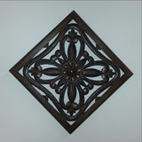 Carved Wood Wall Art Plaque ,Decorative. IMA