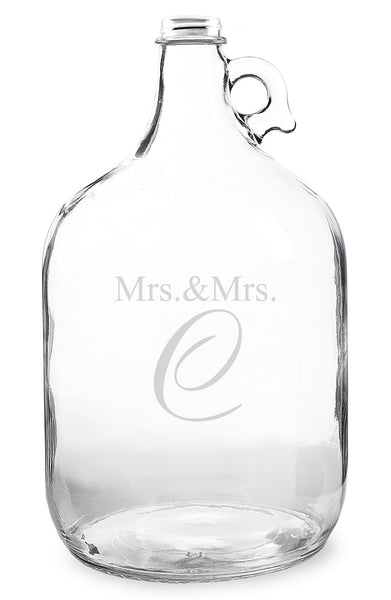 'Mrs. & Mrs. - Wedding Wishes in a Bottle' Gallon Growler Guest Book