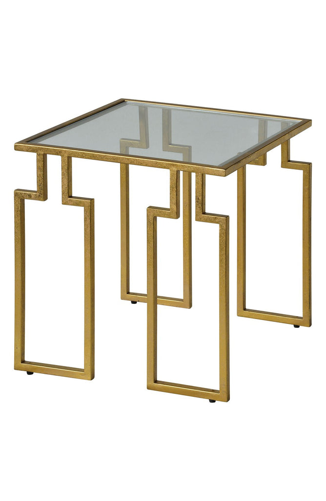 'Etting' Glass Top Accent Table