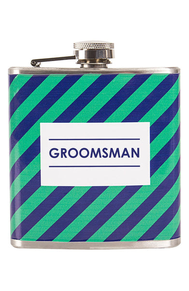 'Groomsman' Stripe Flask