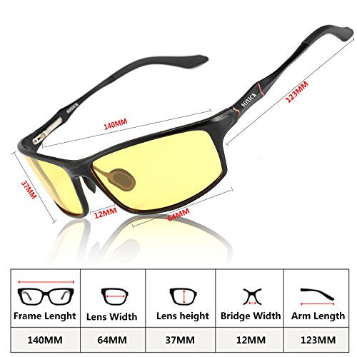 Night Driving Glasses for Man Women Anti Glare Improve Driving Safety HD Night Vision Glasses for Driving
