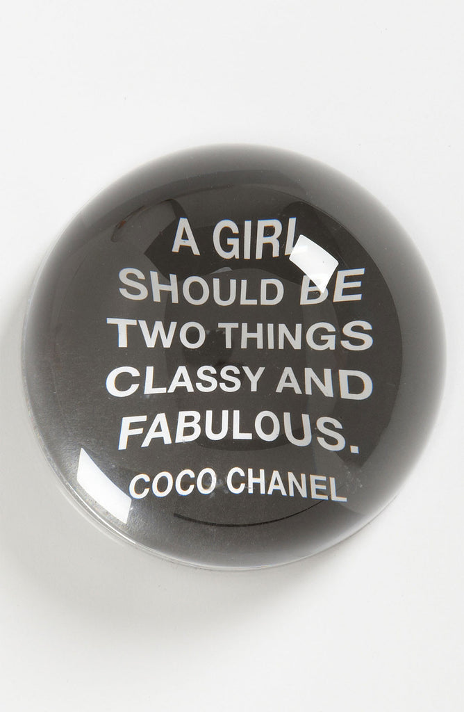'A Girl Should Be' Paperweight
