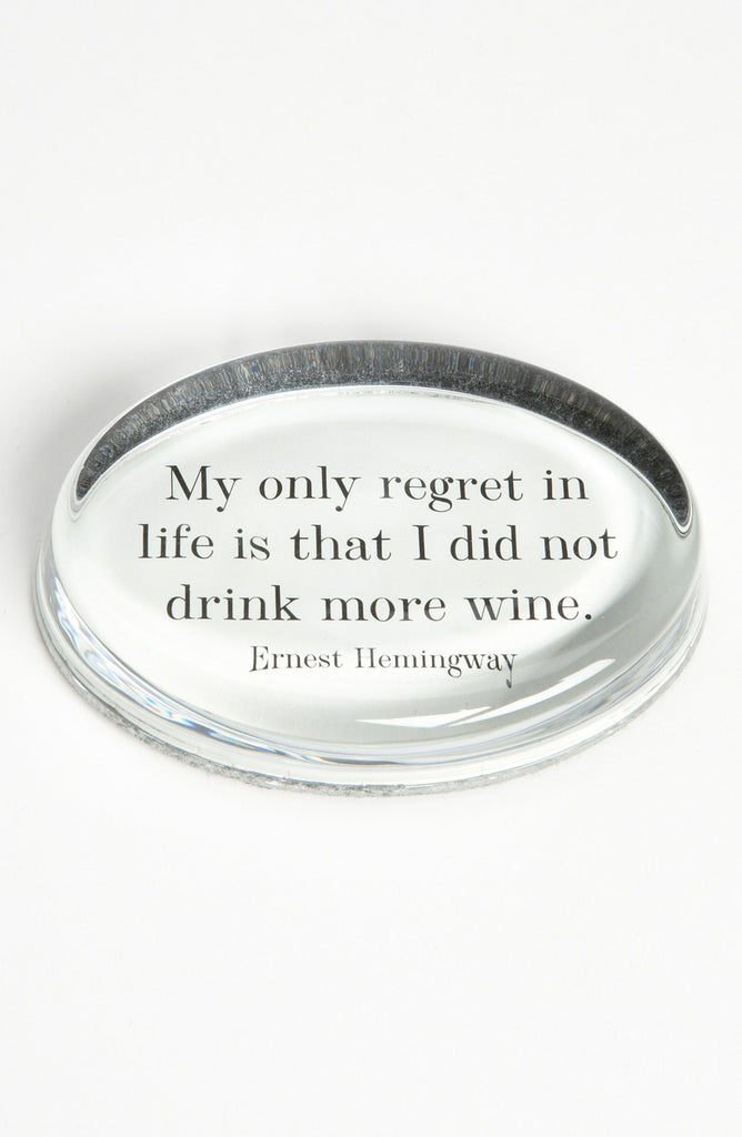 'My Only Regret' French Crystal Paperweight