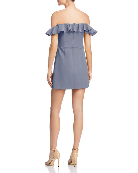 FRENCH CONNECTION Whisper Light Ruffled Off-the-Shoulder Dress - 100% Exclusive