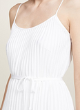 Vince - Pleated Cami Dress, White - Therapy & EG Page