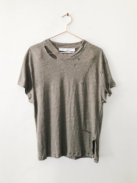 IRO - Sesame Short Sleeve Linen Distressed Tee - Therapy & EG Page