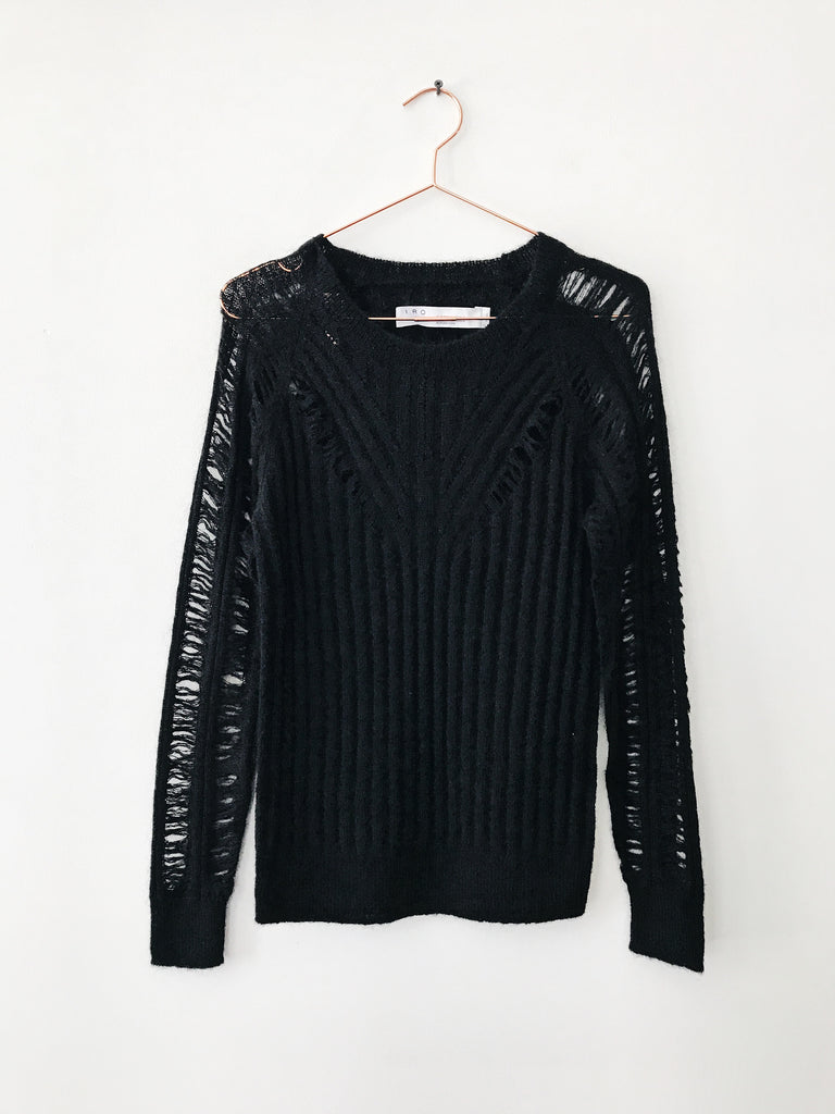 IRO - Off Loose Knit Sweater, Black - Therapy & EG Page