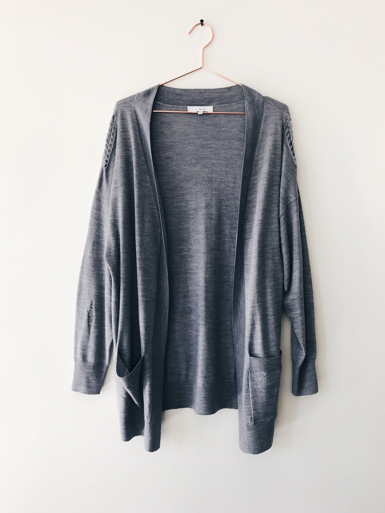 IRO - Sinal Distressed Knit Cardi, Heather Grey - Therapy & EG Page