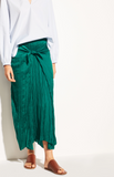 Vince - Pleated Tie Front Skirt, Malachite - Therapy & EG Page