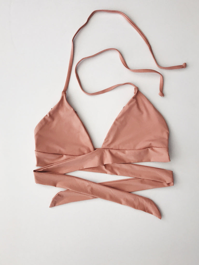 Emerson Grace - Wrap Halter Bikini Top, Blush - Therapy & EG Page