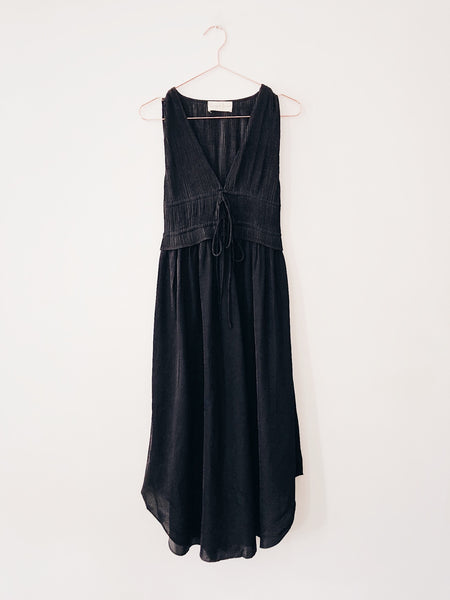 Laissez Faire - Faye Pleated Midi Dress, Black - Therapy & EG Page