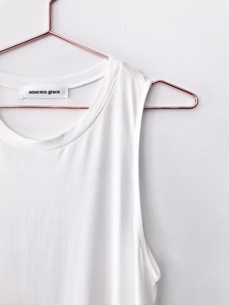 Emerson Grace - Muscle Tank, White - Therapy & EG Page