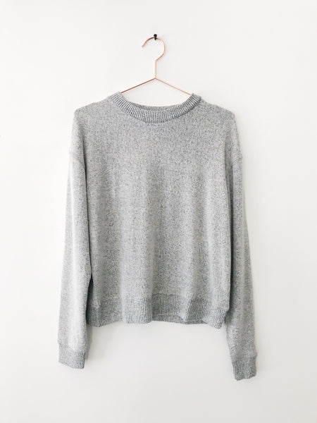 Emerson Grace - Extra Soft Crew Neck Sweatshirt, Heather Grey - Therapy & EG Page