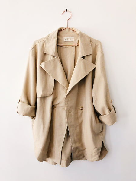 Laissez Faire - Marie Cotton Linen Safari Jacket, Taupe - Therapy & EG Page
